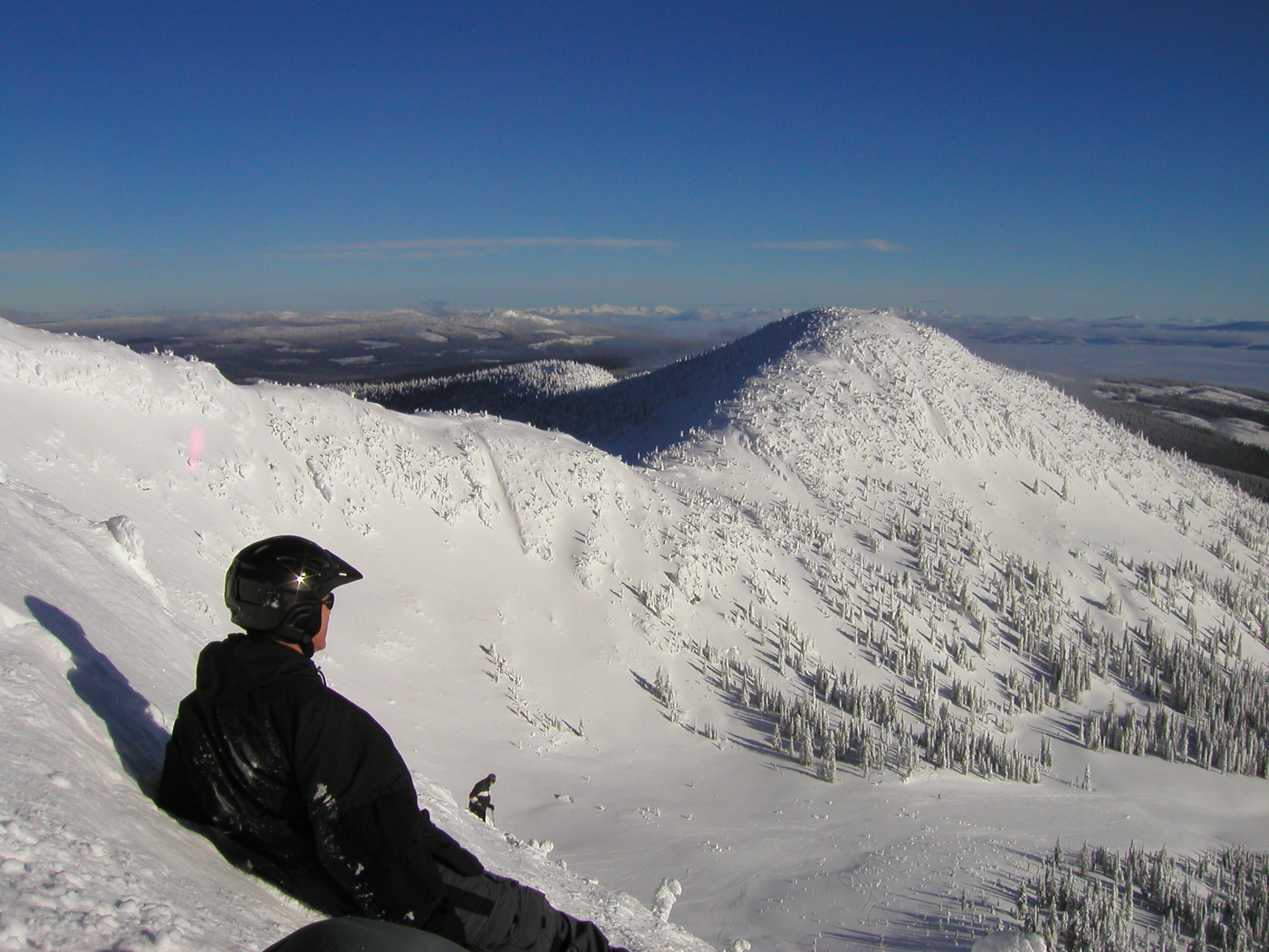 Crescendo's owner, taking in the view before tackling the Cliff Run.